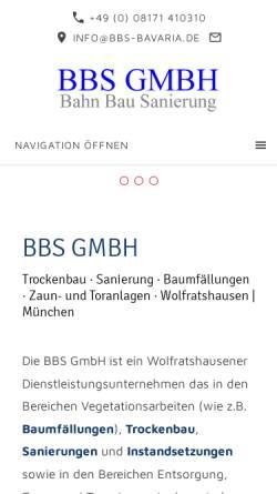 Vorschau der mobilen Webseite www.bbs-gmbh.de, BBS Business Beratung & Service