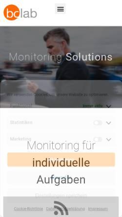 Vorschau der mobilen Webseite bclab.de, Bc.lab Online Relations GmbH
