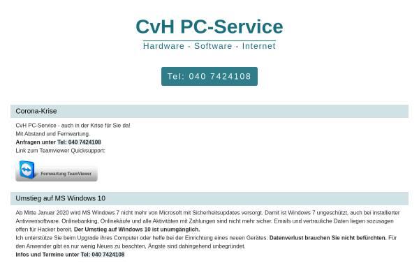 Vorschau von www.cvh-pc-service.de, Christian von Holdt - PC Hilfe für Privat und Büro