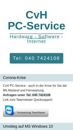 Vorschau der mobilen Webseite www.cvh-pc-service.de, Christian von Holdt - PC Hilfe für Privat und Büro