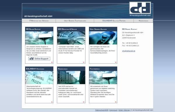 Vorschau von www.ddhandel.de, DD Handelsgesellschaft mbH