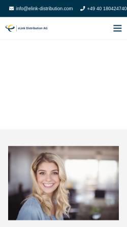Vorschau der mobilen Webseite www.elink-distribution.com, ELink Distribution AG