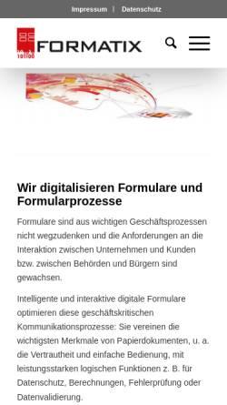 Vorschau der mobilen Webseite www.formatix.de, Formatix