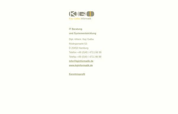 Vorschau von www.kginformatik.de, Kay Galba Informatik