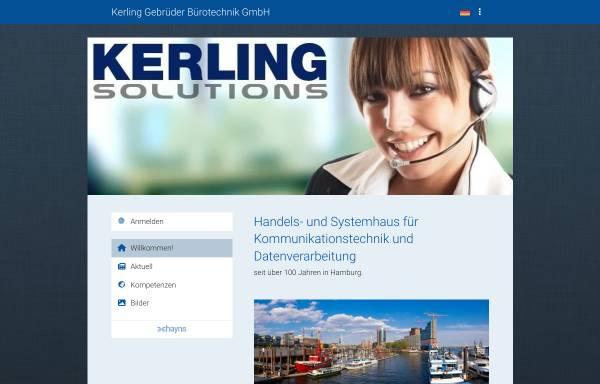 Vorschau von kerling-buerotechnik.de, Kerling Bürotechnik GmbH