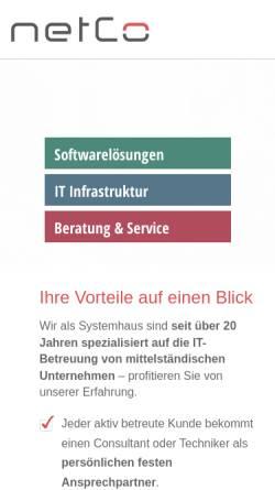 Vorschau der mobilen Webseite www.ntcg.de, NetCo GmbH
