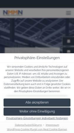 Vorschau der mobilen Webseite www.nmmn.com, New Media Markets & Networks