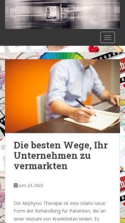 Vorschau der mobilen Webseite www.pnm-hamburg.de, PNM Pütz Neue Medien GmbH