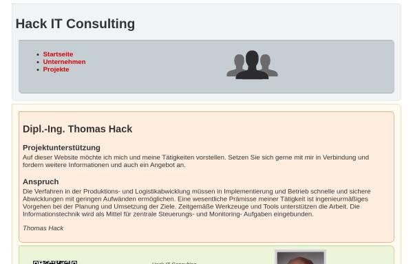 Vorschau von www.hack-hamburg.de, SAP und Logistikberatung Thomas Hack