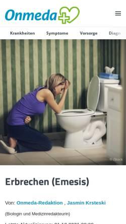 Vorschau der mobilen Webseite www.onmeda.de, Onmeda: Bulimia nervosa (Bulimie)