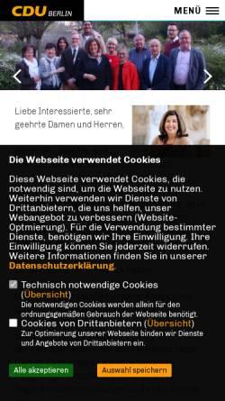 Vorschau der mobilen Webseite www.cdu-charlottenburg-nord.de, CDU Charlottenburg-Nord