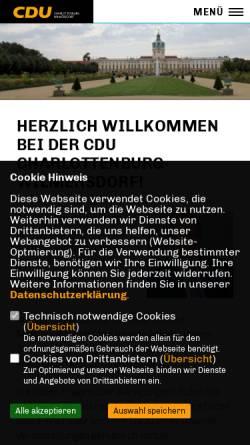 Vorschau der mobilen Webseite www.city-cdu.de, CDU Charlottenburg-Wilmersdorf
