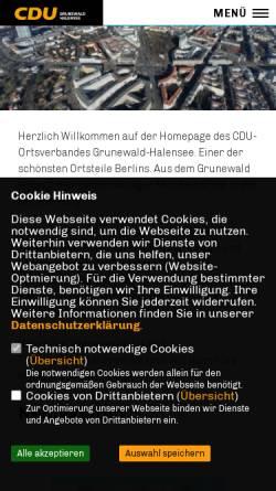 Vorschau der mobilen Webseite www.cdu-akzente.de, CDU Grunewald-Halensee