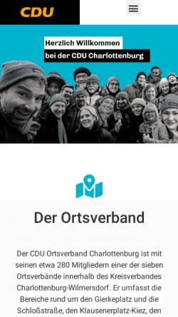 Vorschau der mobilen Webseite www.cdu-ovschloss.de, CDU Schloss