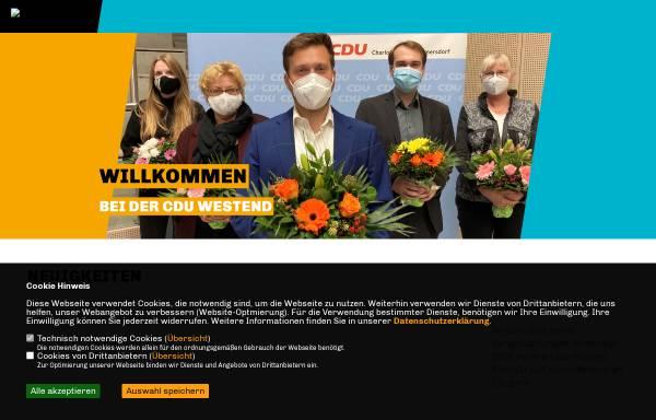 Vorschau von www.cdu-westend.de, CDU Westend