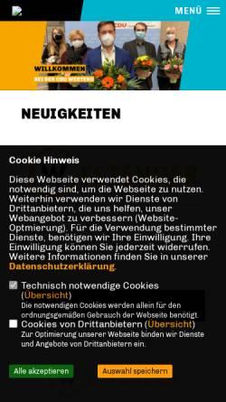 Vorschau der mobilen Webseite www.cdu-westend.de, CDU Westend