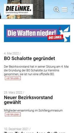 Vorschau der mobilen Webseite www.dielinke-charlottenburg-wilmersdorf.de, Die Linke. Charlottenburg-Wilmersdorf