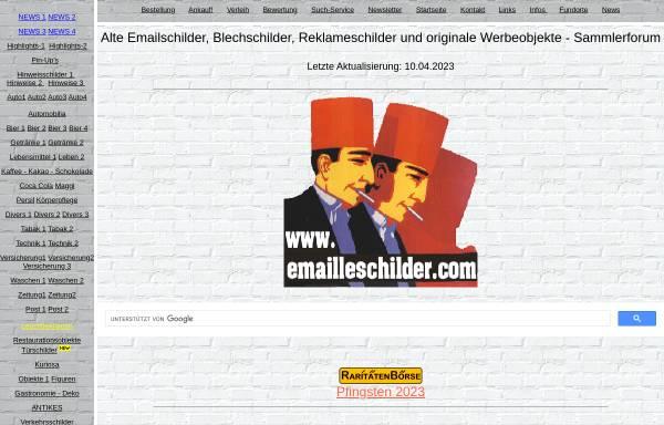 Vorschau von www.emailleschilder.com, Emailleschilder, Andreas Henseler