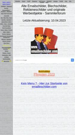 Vorschau der mobilen Webseite www.emailleschilder.com, Emailleschilder, Andreas Henseler