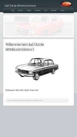 Vorschau der mobilen Webseite www.acdm-online.de, Audi Club der Mitteldruckmotoren
