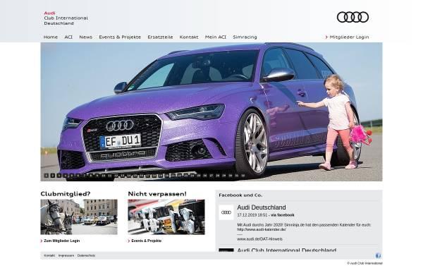 Vorschau von www.audi-club-international.de, Audi Club International
