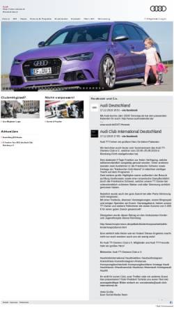 Vorschau der mobilen Webseite www.audi-club-international.de, Audi Club International