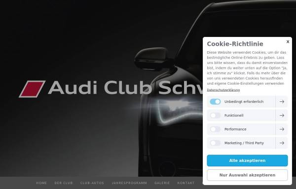 Vorschau von www.audiclubschweiz.ch, Audi Club Schweiz