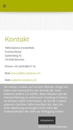 Vorschau der mobilen Webseite www.tmi-solutions.ch, TMI Solutions