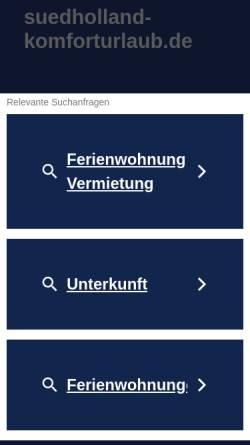 Vorschau der mobilen Webseite www.suedholland-komforturlaub.de, Ferienhaus in Wemeldinge an der Oosterschelde