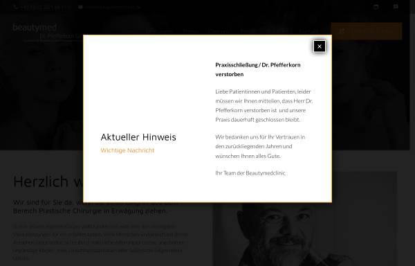 Vorschau von www.beautymedclinic.de, Beautymed Dr. Pfefferkorn GmbH