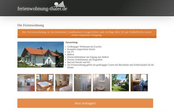 Vorschau von www.ferienwohnung-thaler.de, Ferienwohnung Familie Thaler