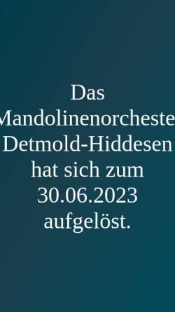 Vorschau der mobilen Webseite www.mandolinenorchester-hiddesen.de, Mandolinenorchester Detmold-Hiddesen