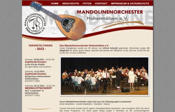 Vorschau von www.mandolinenorchester-hhm.de, Mandolinenorchester Hohenmölsen