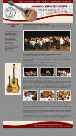 Vorschau der mobilen Webseite www.mandolinenorchester-hhm.de, Mandolinenorchester Hohenmölsen