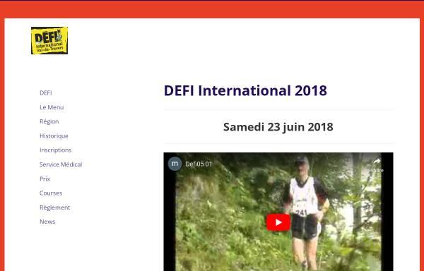 Vorschau von www.defi-vdt.ch, Défi, Marathon und Semi-Marathon im Val-de-Travers