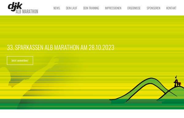 Vorschau von www.albmarathon.de, Schwäbischer Alb Marathon