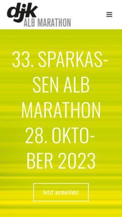 Vorschau der mobilen Webseite www.albmarathon.de, Schwäbischer Alb Marathon