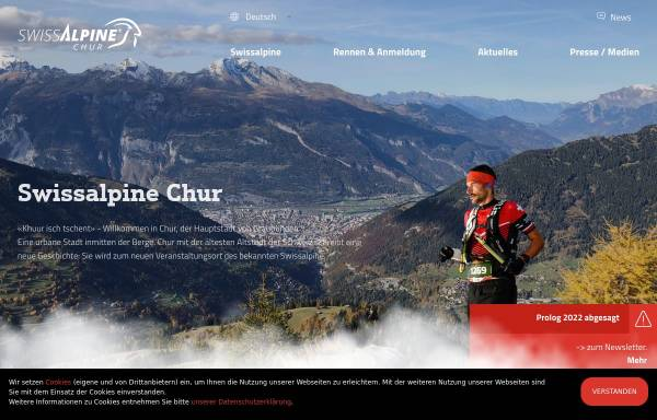 Vorschau von www.swissalpine.ch, Swiss Alpine