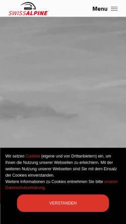 Vorschau der mobilen Webseite www.swissalpine.ch, Swiss Alpine
