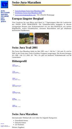 Vorschau der mobilen Webseite www.tuerlings.de, Swiss Jura Marathon