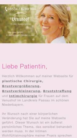Vorschau der mobilen Webseite www.plastische-chirurgie-schinner.de, Dr. med. Susanne Schinner