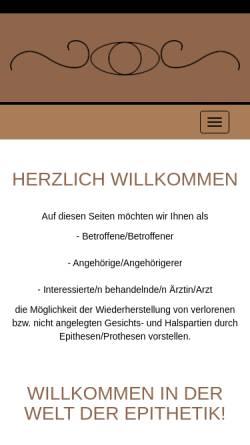 Vorschau der mobilen Webseite www.epithetik-sauer.de, Epithetik Studio Sauer