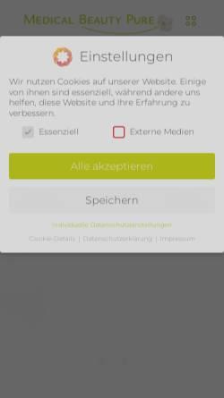 Vorschau der mobilen Webseite www.medical-beauty-pure.de, Faltenbehandlung Köln - Dr. med. T.D.Chi Bösenberg-Pham