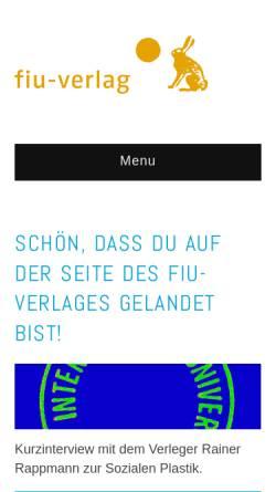 Vorschau der mobilen Webseite www.fiu-verlag.com, FIU-Verlag