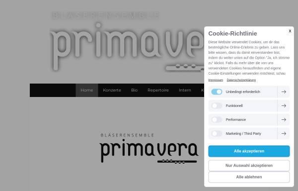 Vorschau von www.blaeserensembleprimavera.ch, Bläserensemble Primavera