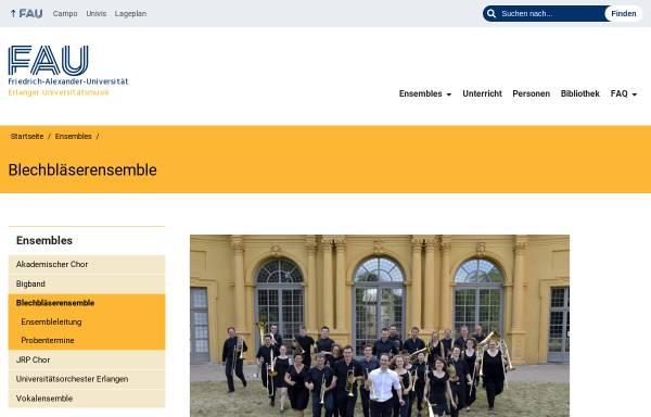 Vorschau von www.musik.uni-erlangen.de, Blechbläserensemble der Universität Erlangen