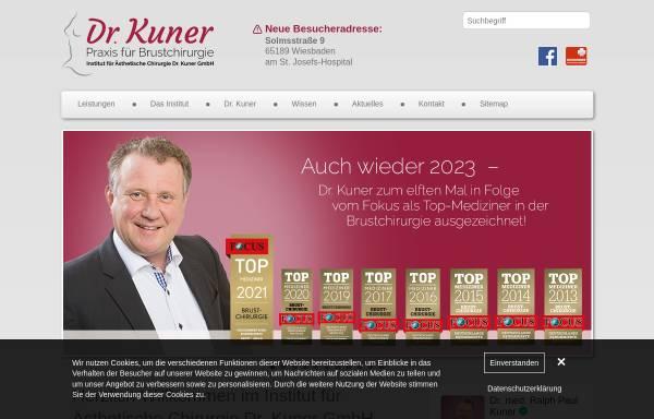 Vorschau von www.dr-kuner.de, Institut für Ästhetische Chirurgie