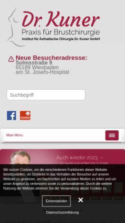 Vorschau der mobilen Webseite www.dr-kuner.de, Institut für Ästhetische Chirurgie
