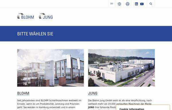 Vorschau von www.blohmgmbh.com, Blohm Maschinenbau GmbH