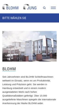 Vorschau der mobilen Webseite www.blohmgmbh.com, Blohm Maschinenbau GmbH